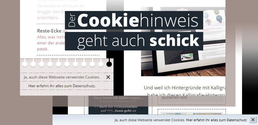 Der Cookie Hinweis Ohne Plugin Ohne Externes Javascript Zum Copy Paste In Zwei Coolen Styles Ideenlounge